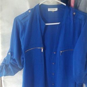 Blue Calvin Klein  blouse